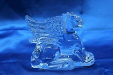 Baccarat Griffin Winged Lion Crystal Figurine Sculpture Paperweight France