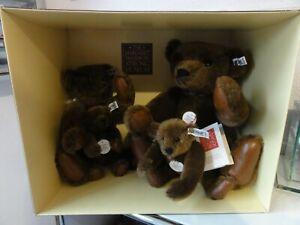 Steiff 0160/00 Margaret Strong Chocolate Brown Teddybear Collector's Set 1983