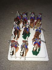 Timpo Confederate Mounted  Cavalry Soldiers X 10
