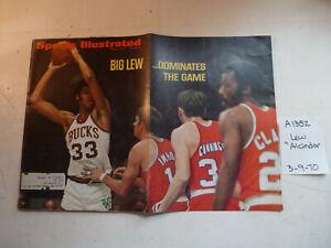 3/9/70 Sports Illustrated NBA Bucks Jabbar PGA Horses Swimming Wisconsin Poulos