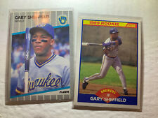 New listing 1988 Fleer and Score Gary Sheffield Rookie Cards #196 — 2 Card Lot - Mint!!!