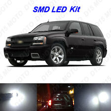 7x White LED Interior Bulb+ License Plate Lights For 2002-2009 Chevy Trailblazer