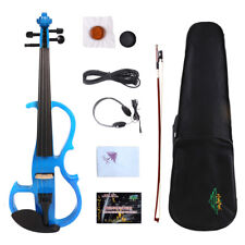 New 3/4 Electric Violin For Child Violin Silent Practice Ebony Fittings Case Bow