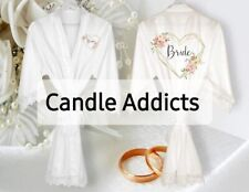 Personalised Satin Robes with Lace Trim. Perfect for Weddings/Proms/Communion