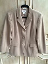 Talbots Camel Color Camel Hair Jacket Size 12 Petite Made in Italy