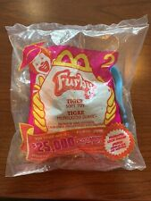 McDonalds 2000 Furby Plush Key Chain TIGER #2 Happy Meal Toy Backpack Clip On