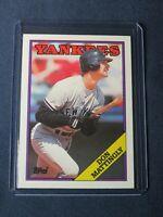 1988 Topps DON MATTINGLY Baseball Card #300 New York Yankees MINT in toploader