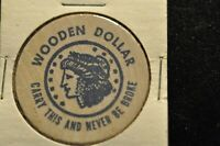 WOODEN DOLLAR CARRY THIS AND NEVER BE BROKE NUMISMATIC NEWS TOKEN!   CC434XXX