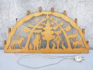 alter Schwibbogen Lichterbogen Holz Weihnachten 60,0 cm breit als defekt