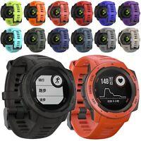 Silicone Sports Watch Band Strap Bracelet For Garmin Instinct Rugged GPS Watch