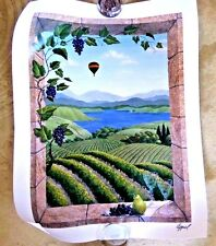 SUPERB LITHO POSTER NAPA WINE COUNTRY BALLOON LTD EDITION BY APPEL c.2004