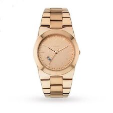 Gold Plated Strap Analog Unisex Wristwatches