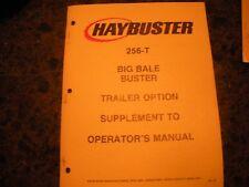 ORIGINAL,HAYBUSTER 256T BIG BALE BUSTER ,OPERATION MANUAL #87
