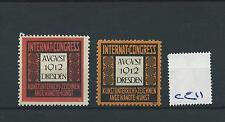 wbc. - CINDERELLA/POSTER - CE11 - EUROPE- INT. CONGRESS - DRESDEN - 1912