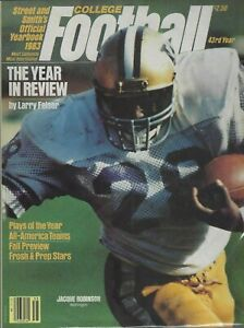 1983 STREET AND SMITH'S COLLEGE FOOTBALL YEARBOOK; JACQUE ROBINSON, WASHINGTON