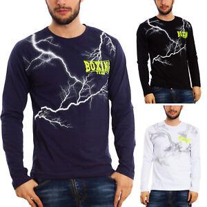 Maglia uomo t-shirt maniche lunghe maglietta cotone TOOCOOL casual BX-7044