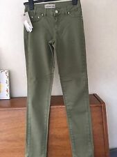 COAST WEBER AHAUS Straight Leg skinny stretch green olive Size XS/ low waist 28
