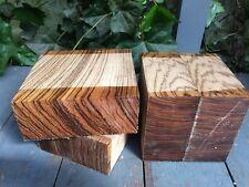 """Zebrano Bowl Blanks /woodturning/exotic Woods 8x8x3"""""""