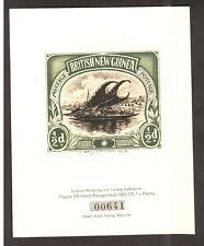 "Papua New Guinea - 1923 Rare Original  Numbered "" Haimer Etching "" PROOF ."