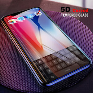 3D 5D 6D Curved Full Tempered Glass Screen Protector For iPhone 12 11 Pro XS Max