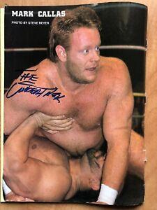 The Undertaker Signed Auto Autographed Magazine Photo WWF WWE WCW