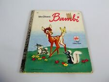 Little Golden Book Walt Disney's Bambi #D90 Vintage 1970's