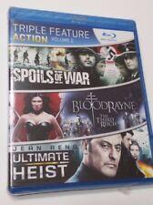 Spoils of War / Bloodrayne / Ultimate Heist Blu-Ray DVD New