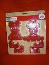DISNEY STORE MICKEY & MINNIE MOUSE 3D COOKIE CUTTER BAKING 6 PIECE SET NEW W/T