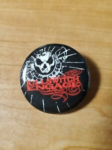 Killswitch Engage Button Pin Metalcore metal band As Daylight Dies skull KSE