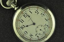 VINTAGE 18S WALTHAM CRESCENT ST 21J POCKET WATCH FROM 1892 KEEPING TIME