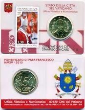 Vatican Timbre & Coincard Numéro 8 2015 Pape François 50 Ct Timbre-Poste
