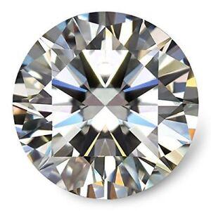 Loose Moissanite Stone  GH White Color Round  Cut Excellent Grade VVS1