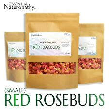 RED ROSE BUDS DRIED REAL Premium Rosebuds TEA POTPOURRI BATH WEDDING