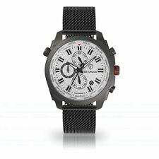 DETOMASO DISCOVERER II - Herrenuhr  weiß silber milanaise armband   uvp 249€