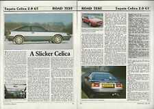 1987 TOYOTA CELICA Road Test article Toyota Celica 2.0 GT from British auto maga
