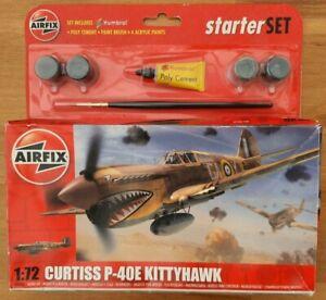 Curtiss P-40E Kittyhawk 1:72 Airfix Starter Set Model Kit