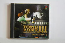 Tomb Raider III 3 PS PlayStation 1 PS1 PSX Good Japan Import