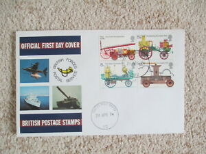 1974 FIRE SERVICE FORCES OFFICIAL COVER, FIELD POST OFFICE 62 CDS CANCEL