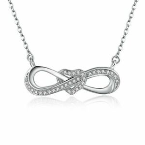 Infinity Heart Necklace Genuine 925 Silver