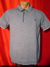 Authentic Fred Perry Men's Polo Shirt Gray Size: L Large