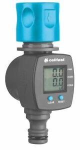 Liter/Gallon Counter Garden Hose Water Flow Meter Quick Connection LCD Screen