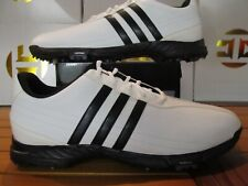 NEW Adidas Golflite Grind 2.0 White Black 11 816300 Mens Golf Shoes Spikes 2011
