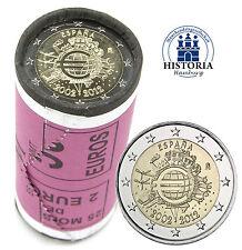 25 x Spanien 2 Euro Gedenkmünze 2012 bfr. 10 Jahre Euro Bargeld in Rolle