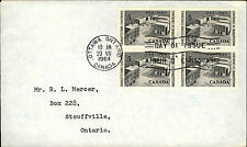 1964 Charlottetown Conference Stamps Stempel Cancel OTTAWA Ontario Brief Cover