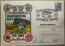 More details for manchester city v manchester united first day cover signed by peter barnes