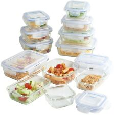 Glass Food Storage Container Set With Lids 12 Pieces