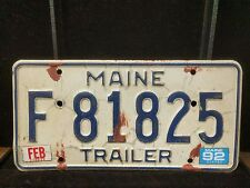 1x Maine license Plate F81825 Trailer