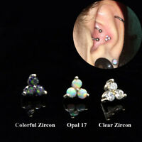 Cartilage Earring Tragus Piercing Labret Lip Stud Helix Conch Daith Piercings