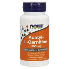 Now Foods Acetyl L-Carnitine 500mg - 50 Vegetarian Capsules