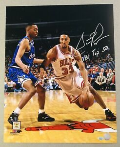 "Scottie Pippen autographed ""NBA Top 50"" Chicago Bulls signed 16x20 photo SGC COA"